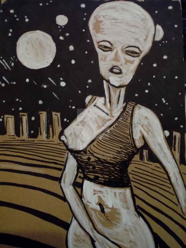Alien bride by Fertxi