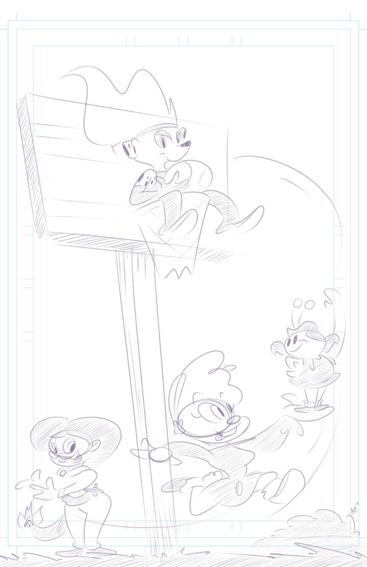 Flare and Her Friends - WIP Illustration by ojcartoons