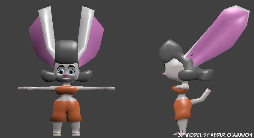 Sandy - 3D Model Complete by Slicky-Grease