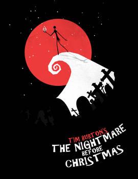 Minimalist Poster : Nightmare Before Christmas