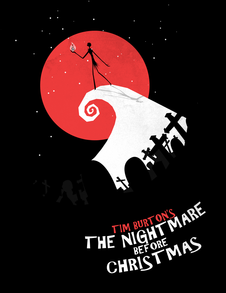 Minimalist poster nightmare before christmas by for Minimalist christmas
