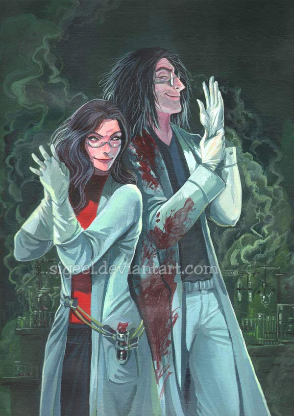 Doctor and Elly acrylics commission by sigeel