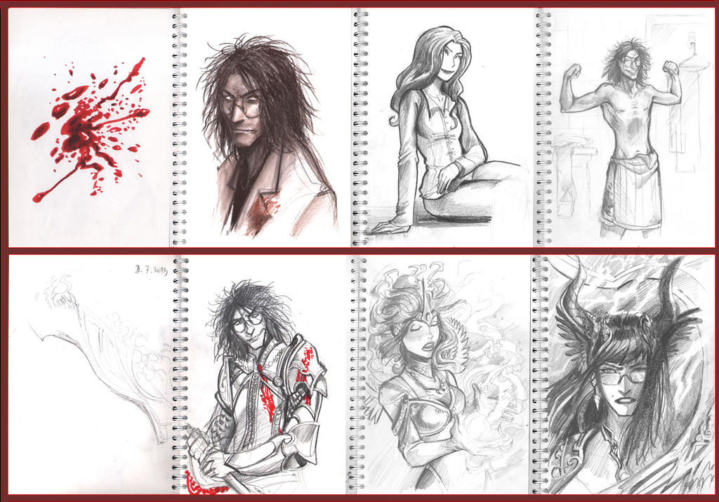 blood stain sketches by sigeel