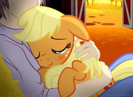 Sundown Snuggles ~ by PonyEcho