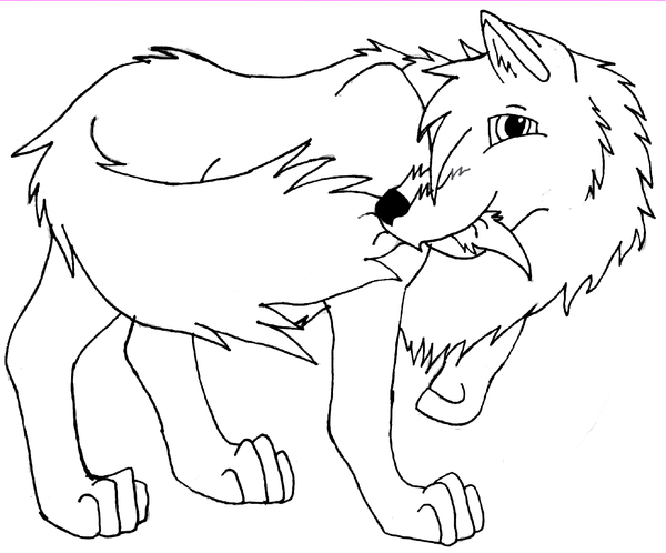 How To Draw Wolf Tails