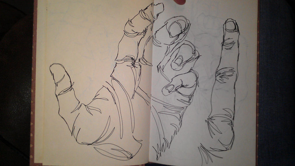 Blind Contour Line Drawing Hand : Blind contour hand by drawingmaster on deviantart