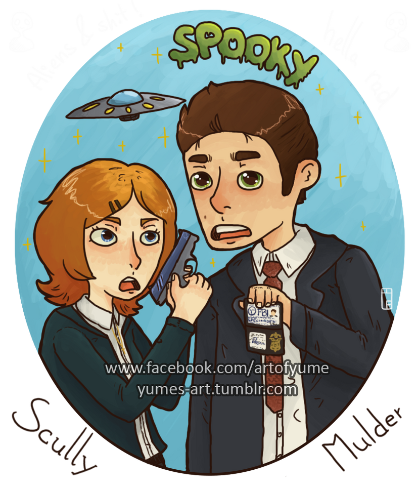 Scully and Molder by Heumilch
