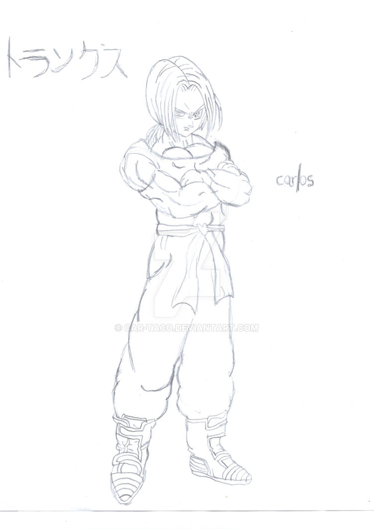 New DBGT - Trunks' Sketch PREVIEW by CAR-TACO