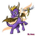 Spyro and Sparx by omegacybersilver