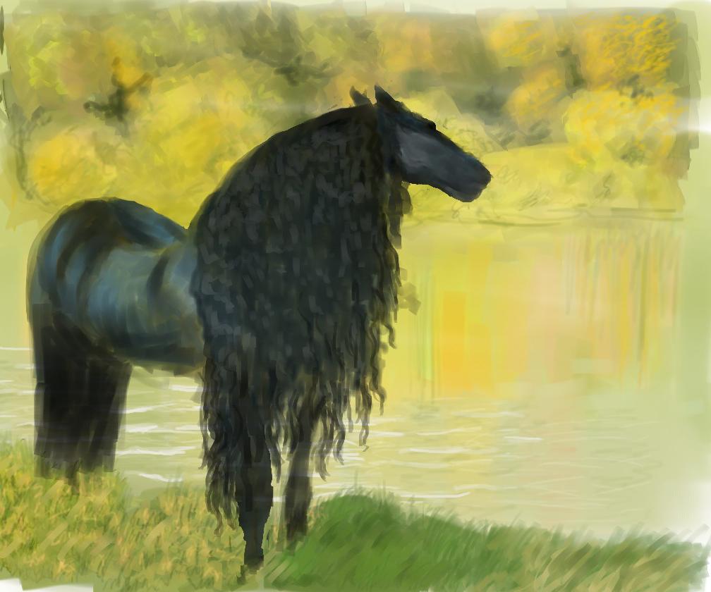 Friesian Horse Paintings Friesian Horse by Liara