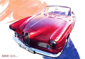 BMW 503 classic 1955 by TonyWcK