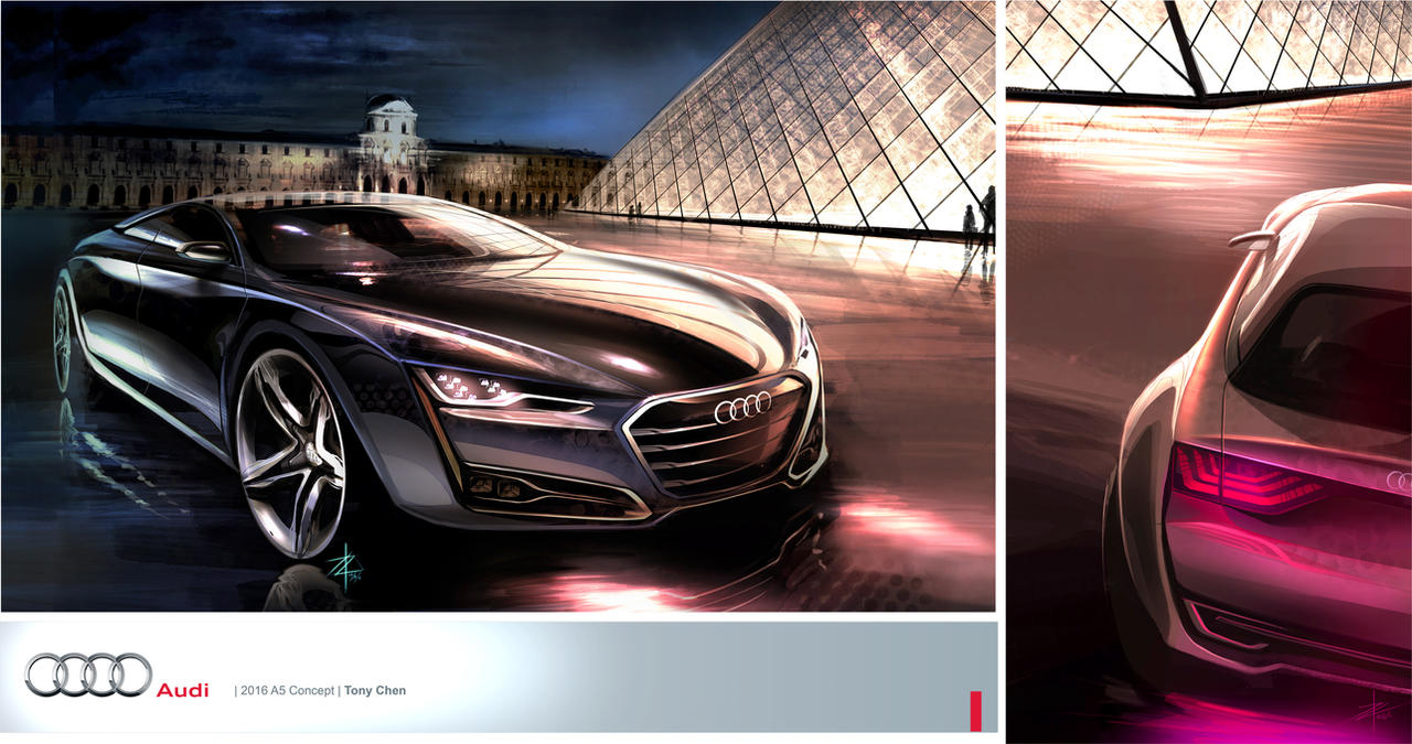 tony chen 2016 audi a5 concept by tonywck on deviantart. Black Bedroom Furniture Sets. Home Design Ideas