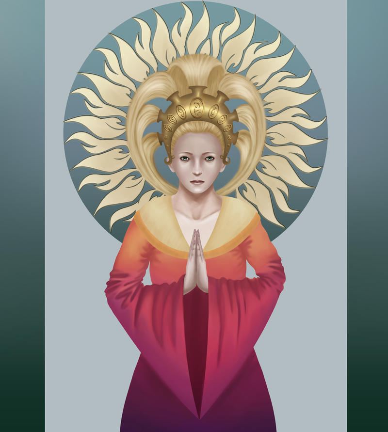 A high priestess of the sun (improved) by Eladie