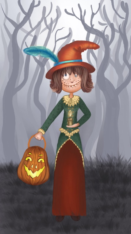 A Halloween witch by Eladie