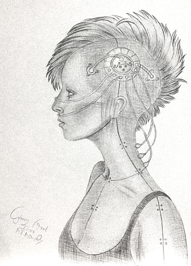 Absolutely cliche cyborg girl by Eladie