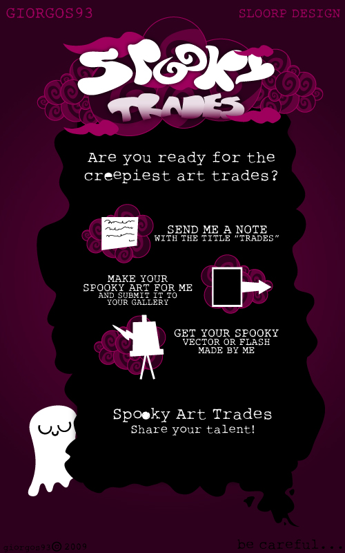 Spooky Trades Poster by SloorpWorld