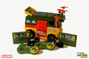 TMNT - TURTLES SNES Party Wagon Edition by Jaki33