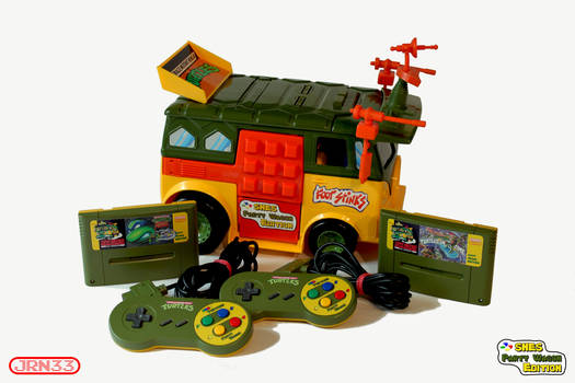 TMNT - TURTLES SNES Party Wagon Edition