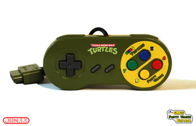 TURTLES SNES Party Wagon Edition -Controller Front by Jaki33