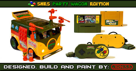TURTLES SNES Party Wagon Edition - Complet