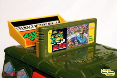 TURTLES SNES Party Wagon Edition - Cartridge