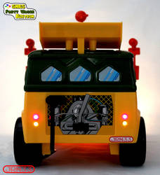 TMNT Party Wagon Snes Edition - Tail lights by Jaki33