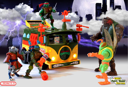 TURTLES SNES Party Wagon Edition - Figtht Scene by Jaki33