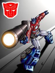 Optimus Prime by LadyKallaghash