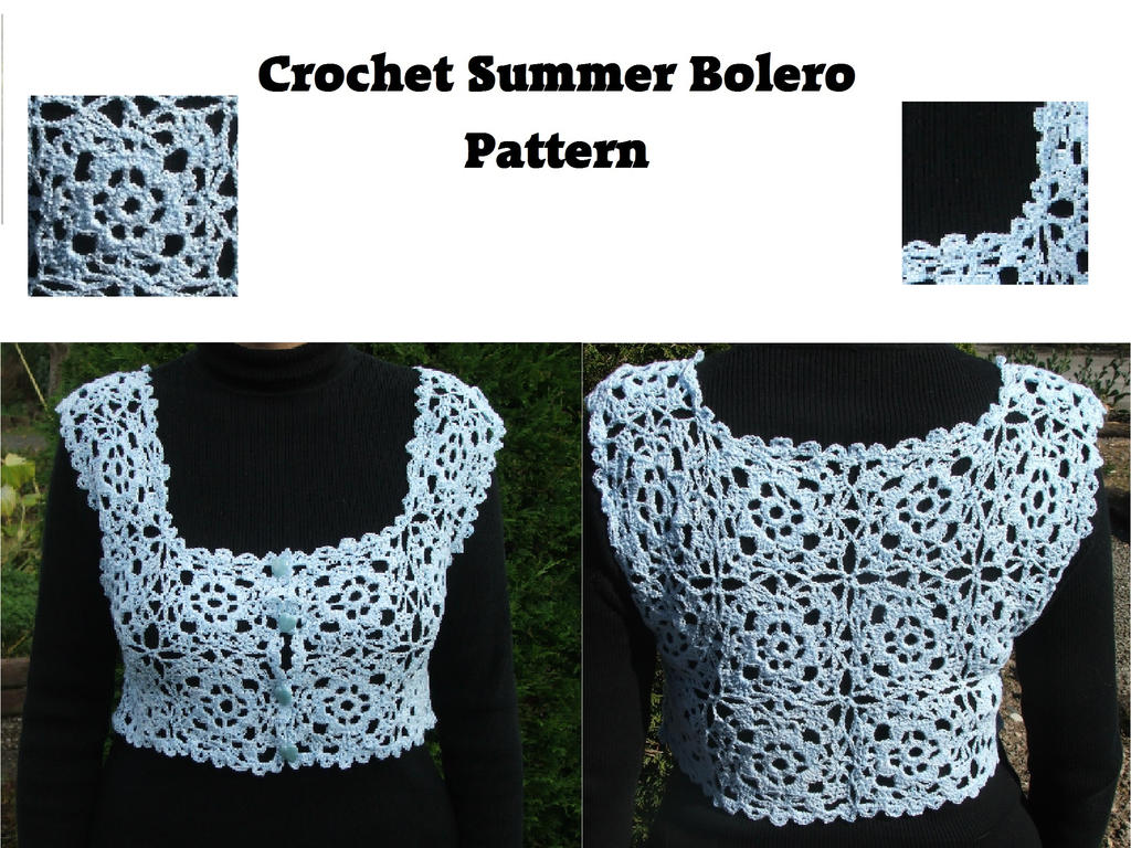 Summer Bolero Crochet Pattern by White-Hand on DeviantArt