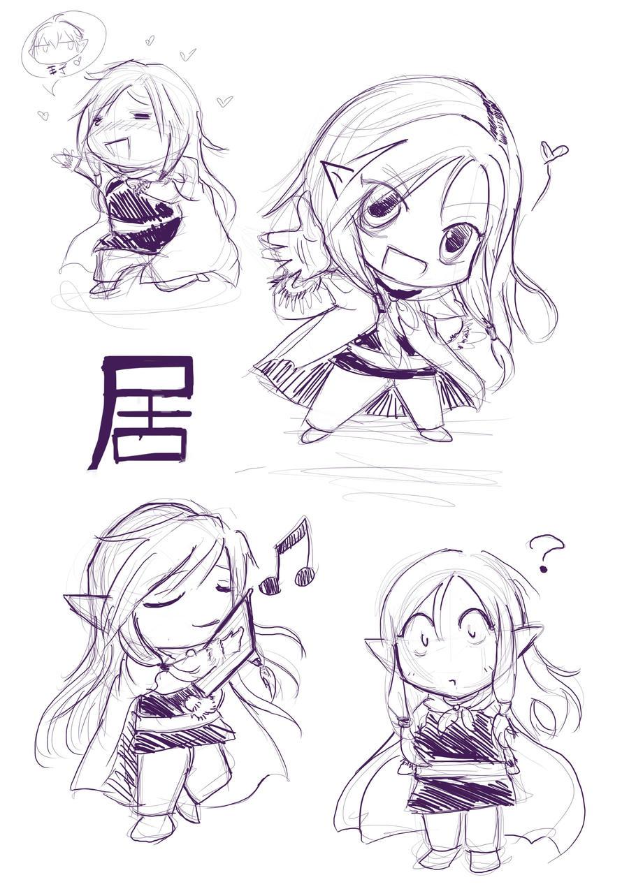chibi Gui sketch by cutieyuka