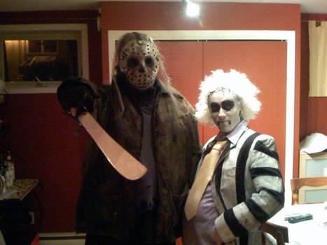 Beetlejuice and Jason costume