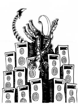 Music soothes the alien beast
