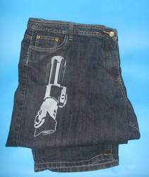 jeans with Lightsaber
