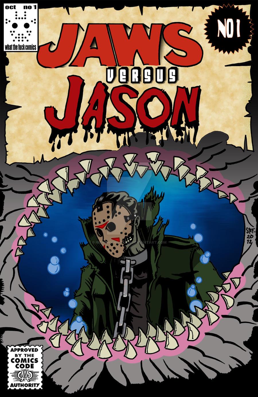 jason versus jaws comic book by ibentmywookiee on deviantart