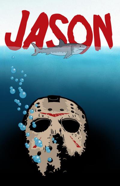 Jason Versus Jaws by ibentmywookiee