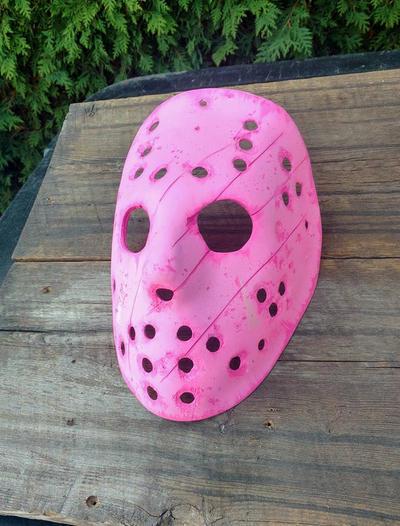 Hand Made Fiber glass Jason mask by ibentmywookiee