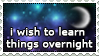 Stamp: Learn Overnight by zelkuno