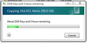 Windows Fail - Long file copy