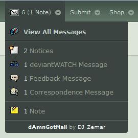dAmnGotMail - Automatic Inbox Checker