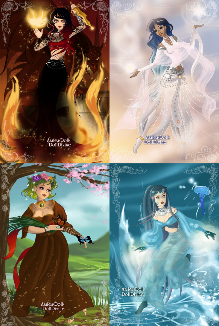 Dress up elements -  The Four Elements By Nerinserene
