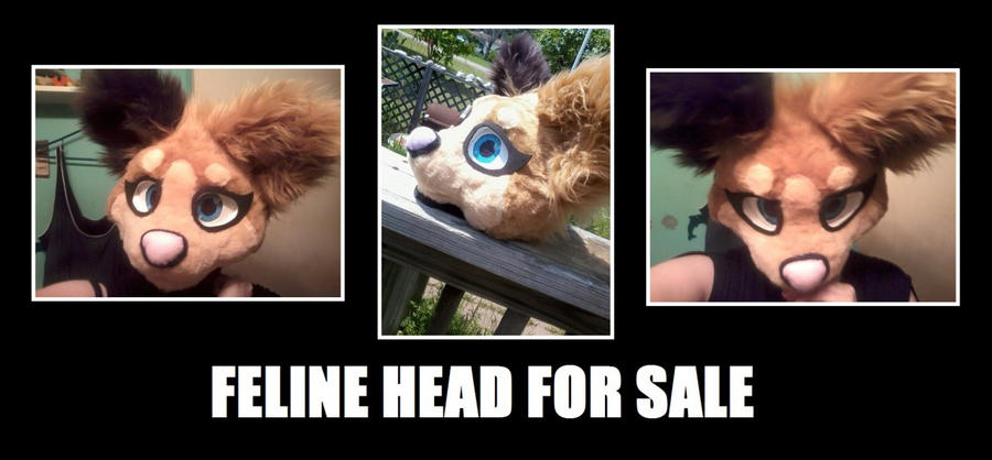 FELINE FURSUIT HEAD FOR SALE by NerinSerene