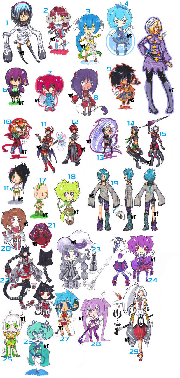 .: MEGA ADOPT DUMP :. .: MOST ADOPTS $1 :. by NerinSerene