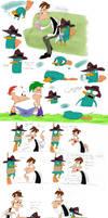 Platypus Day Sketchdump- Colored Version! :D
