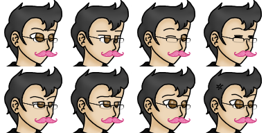 M with glasses and with warfstache with face color by SuomenTasavalta