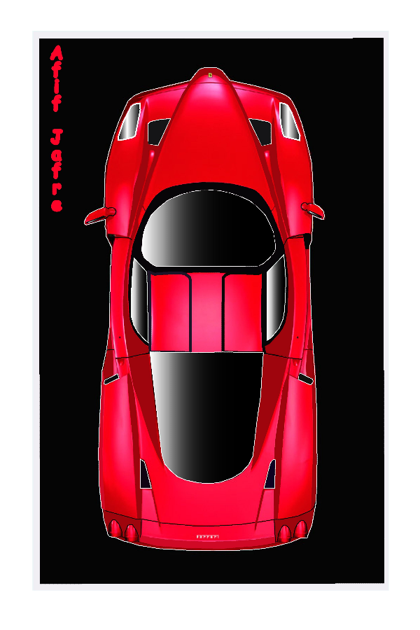 Enzo Ferrari Top View By Vampire A5th On Deviantart