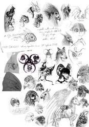 Secondary school sketch dump by AnimositysDiviner