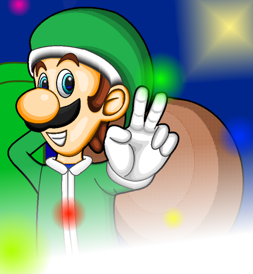 Christmas Luigi by leonardoxy