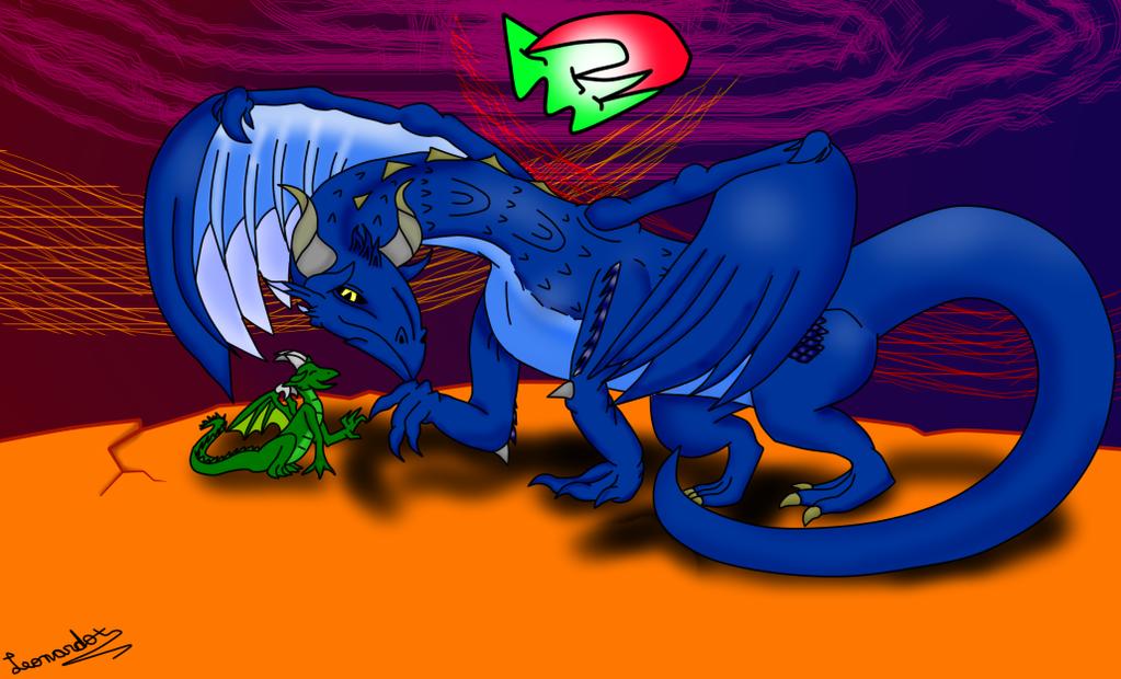 Dragon and Breeding by leonardoxy