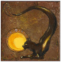 Tatzelwurm, Tile Painting by annegwish33