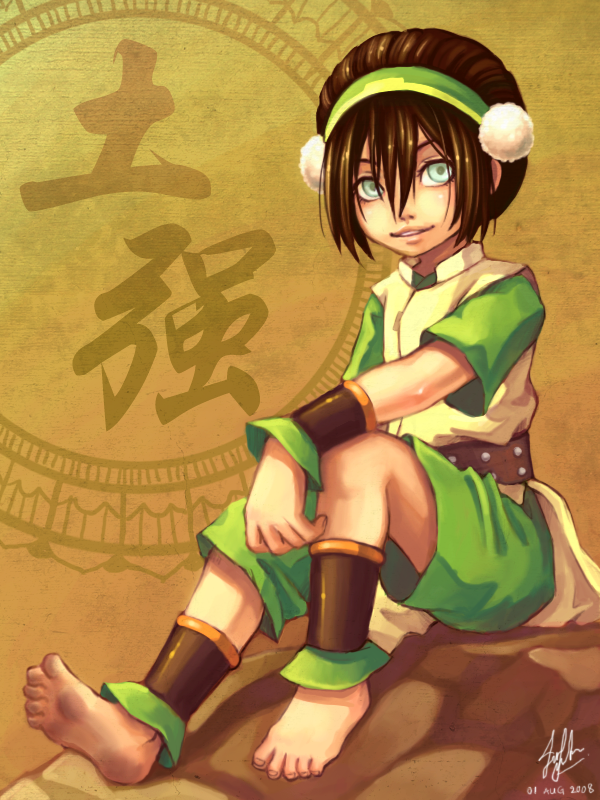 Earthbender Toph by Kiraneko